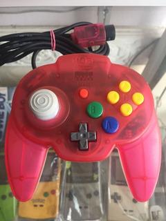 Control Hori Nintendo 64 Rojo N64 Original Watermelon Sandia