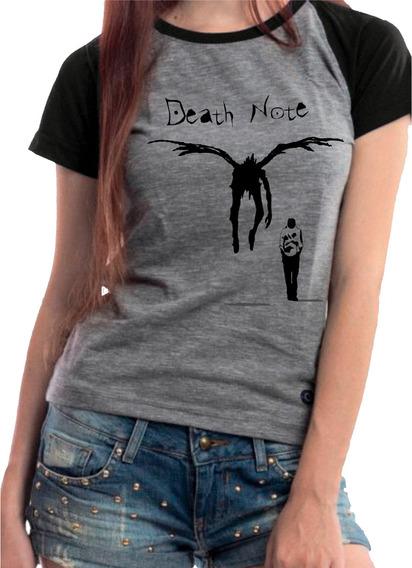 Camiseta Blusa Babylook Anime Death Note