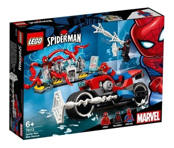 Lego Super Heroes - Marvel - Spider - Man - Moto De Resgate