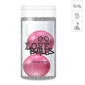 Bolinha Aromatizada Love Balls 2un - Rosa