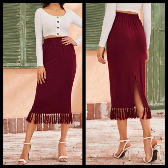 Falda Larga Shein Moda Asiática