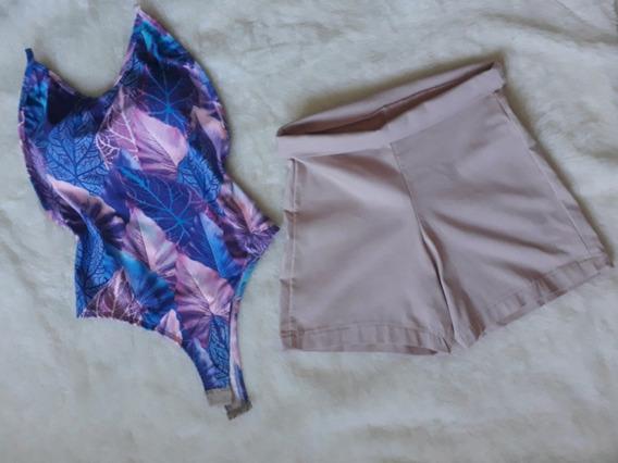 Conjunto Body E Short Nude Promoção