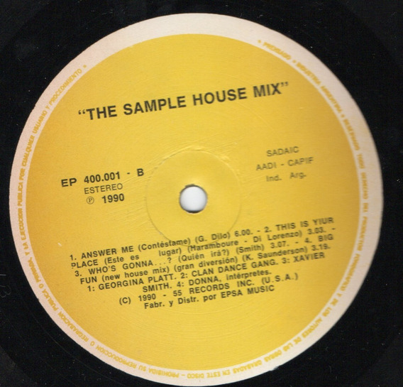 The Sample House Mix Disco De Vinilo