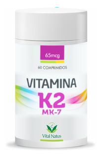 Vitamina K2 Mk7 500mg, 65mcg C/ 60 Comprimidos + Brinde