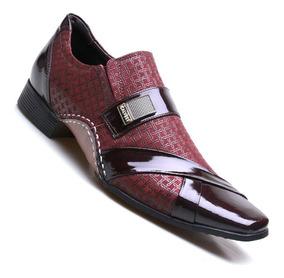 Sapato Social Masculino Calvest Moderno Bordo 1930c227bo