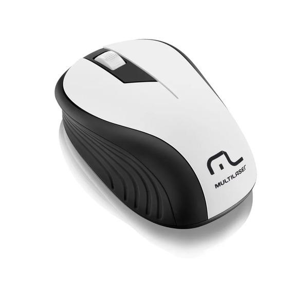 Mouse Óptico Usb Sem Fio 2,4ghz 1200dpi Multilaser