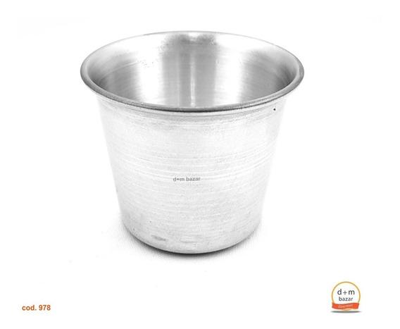 Flanero Con Borde N°4 D 7,5 H 6,2cm. Aluminio Real