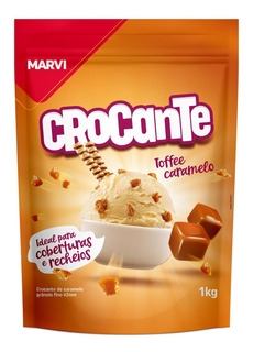 Crocante Toffee Caramelo 1kg Marvi