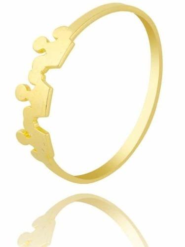Anel Coroa Em Ouro 18k. Frete Grátis