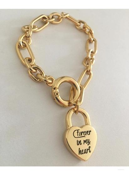 Pulseira Feminina Estilo Tiffany Dourada Santa Luxuria