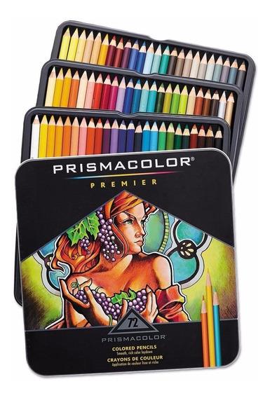 Legítimo Prismacolor - Conjunto Lápis Coloridos Com 72 Cores