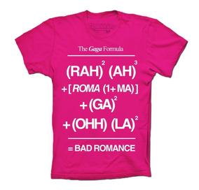 Lady Gaga Playeras Bad Romance Formula The Fame Monster