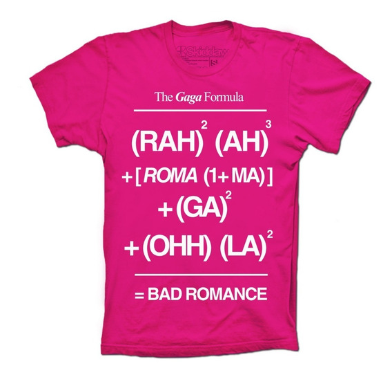 Lady Gaga Playeras Bad Romance Formula The Fame Monster