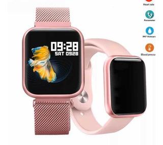Relógio Inteligente Smart Bracelet T80 Com 1 Pulseira Extra