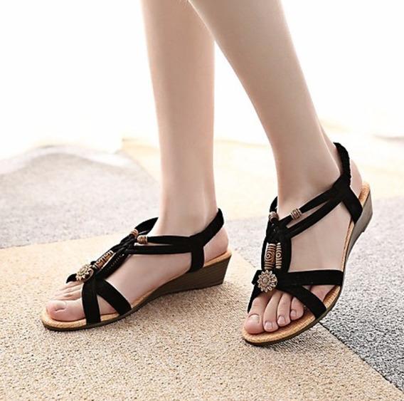 Sandalias Mujer De Tacón Plano