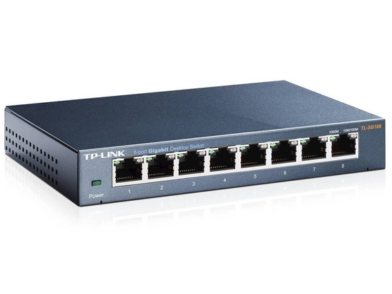 Switch Tp-link 8 Bocas Gigabit Ethernet Tl Sg108 Metálico