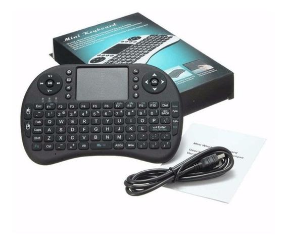 Mini Teclado Sem Fio Touchpad Mouse Ideal Para Smart Tv/pc/