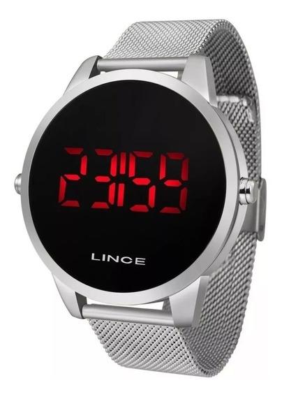 3 Relógio Lince Unissex Digital Mdg4586 Prata/dourado/preto