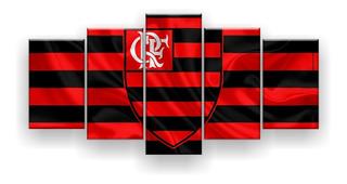 Quadro Decorativo Clube De Regatas Do Flamengo 5pc