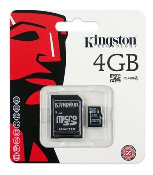 Cartão De Memória 4gb Kingston Micro Sd Com Adaptador Sd