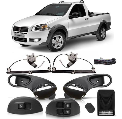 Imagem 1 de 3 de Kit Vidro Elétrico Fiat Strada 2 Porta 1993 2000 2001 2003 2005 2007  08 09 10 2011 2013 Sensorizado
