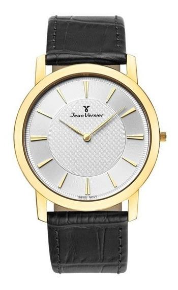 Relógio Jean Vernier Masculino Jv335p Social Slim Dourado
