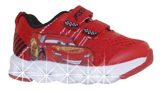 Zapatillas Addnice Flex Extreme Cars C/luz Abrojo (0549)