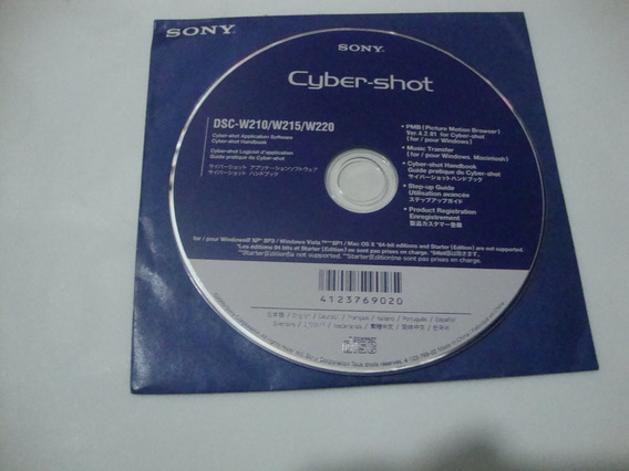 Manual Camera Digital-sony Cyber Shot Dsc-t20/t25 Cd Rom