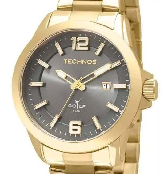 Relógio Masculino Dourado Technos Golf 2115kpx/4p