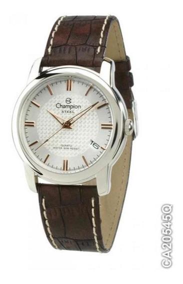 Relógio Champion Feminino Pulseira De Couro Ca20545q