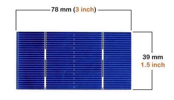 Celda Panel Solar 0.5 V 0.55 W 78mm X 39mm