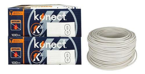 Imagen 1 de 2 de Cable Electrico Cca Konect Calibre 8 Blanco 100 Metros 2 Pzs