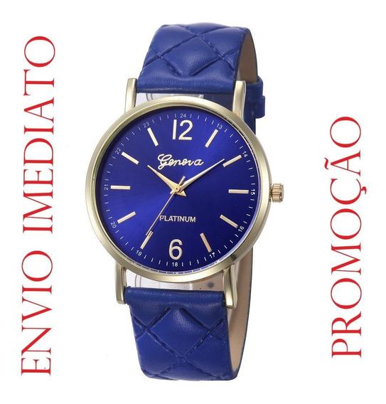 Relógio Feminino Geneva Platinum (envio Imediato)
