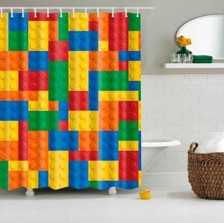 Lego Bloques Cortina De Baño *envío Gratis*