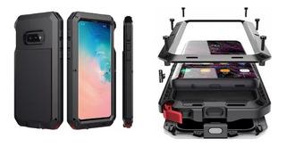 Capa Case De Metal Galaxy S8 S9 S10 S10e Lite Anti Shock Impacto Armadura Blindada