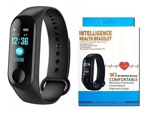 2 Relogio Pulseira De Corrida Monitor Cardíaco M3 Preto
