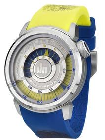 Relógio Yankee Street Analógico Ys30158y Azul/amarelo