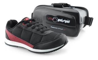 Tênis Pé Com Pé Com Óculos Realidade Virtual Menino 60002