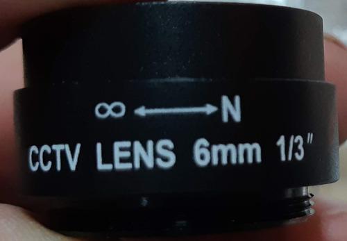 Lentes 12mm 1/3 F2.0 Cctv Lens Camara Vigilancia Seguridad