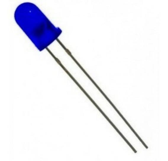Led Difuso 5mm Azul Kit Com 100 Unidades - Envio Rápido