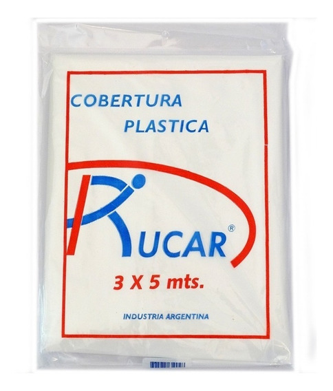 Cobertor Plastico Multiuso Transparente 3x5 Rucar Pintumm