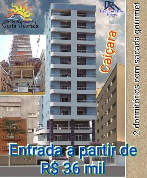 Apartamento 2 Dormitórios Para Venda Em Praia Grande, Vila Caiçara, 2 Dormitórios, 1 Suíte, 1 Banheiro, 1 Vaga - Ap00016