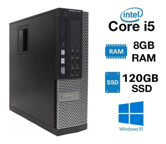 Cpu Dell Core I5 3° Ger. Ram 8gb 120gb Ssd 12x Sem Juros