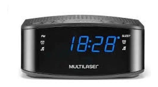 Rádio Relógio Digital Dual Alarme Bivolt Multilaser Sp288