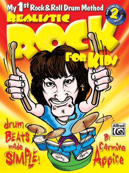 Rock Realistic For Kids Livro De Bateria