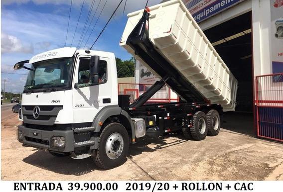 Mb Axor 3131 2019 Com Rollon 39.900.00 + Parcelas