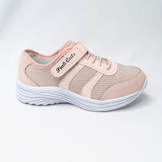 Tênis Pink Cats V1121 Bergamo Iogurte Com Velcro