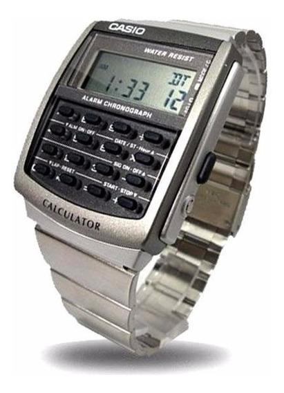 Relogio Casio Ca506 Calculadora Aço Crono Alarm Retro Ca-506