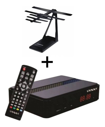 Sintonizador Para Digital + Antena Interior Pote Worldmaster