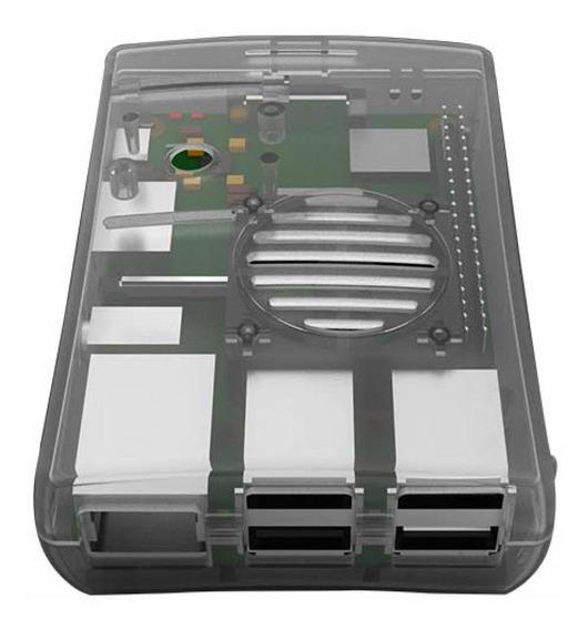 Raspberry Gabinete Carcasa Case Abs P Cooler Fan Pi 3 2 B B+